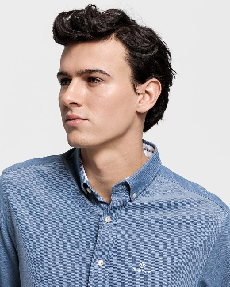 GANT Men's Tp Pique Solid Regular Fit Broadcloth Shirts - 3002560