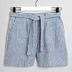 GANT Women's Navy Blue Linen Shorts - 4020029