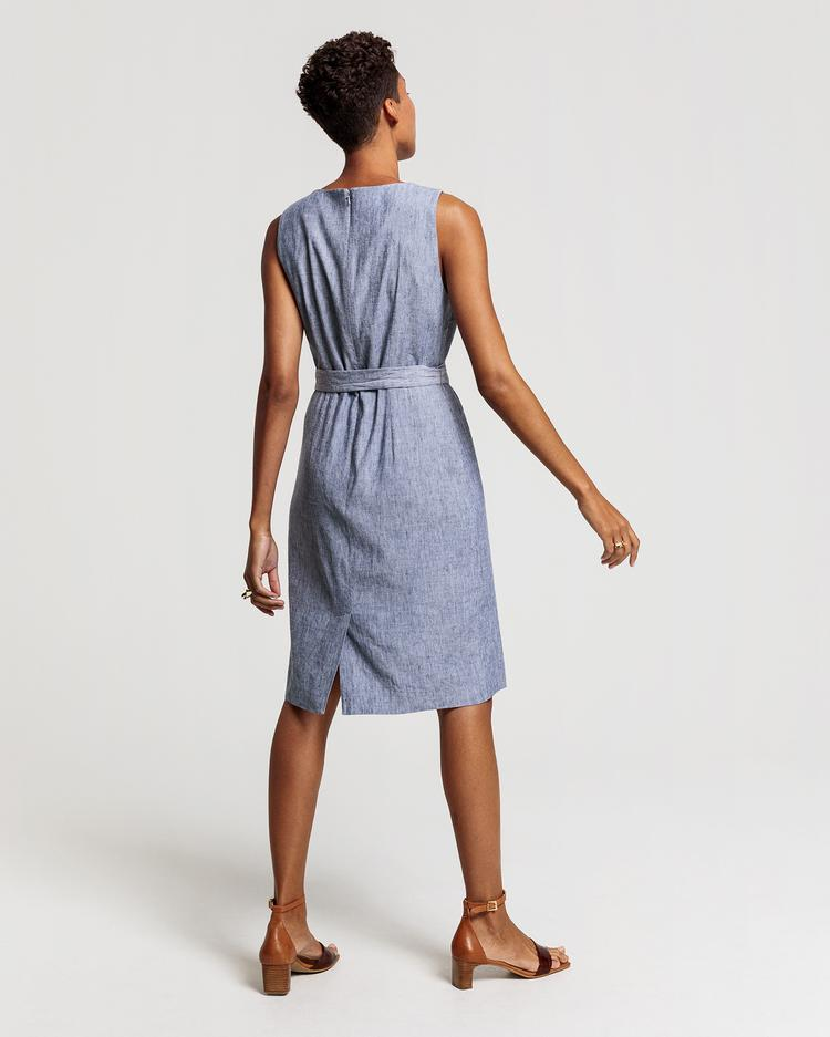 GANT Women's Navy Blue Linen Dress - 4501072