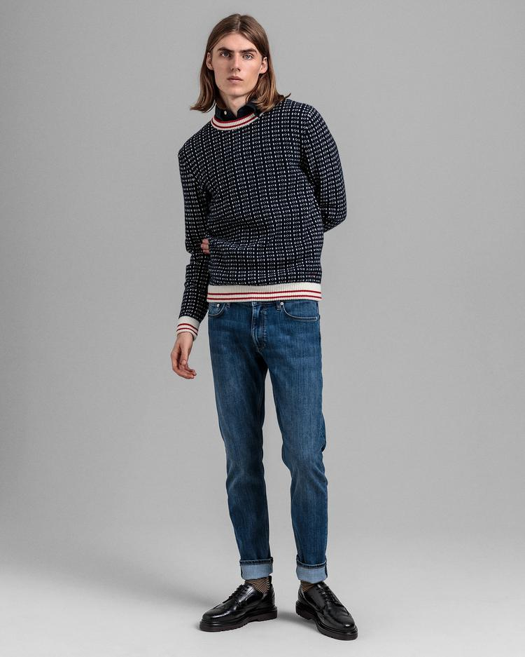GANT Men's Fisherman Crew Neck Sweater - 8060000