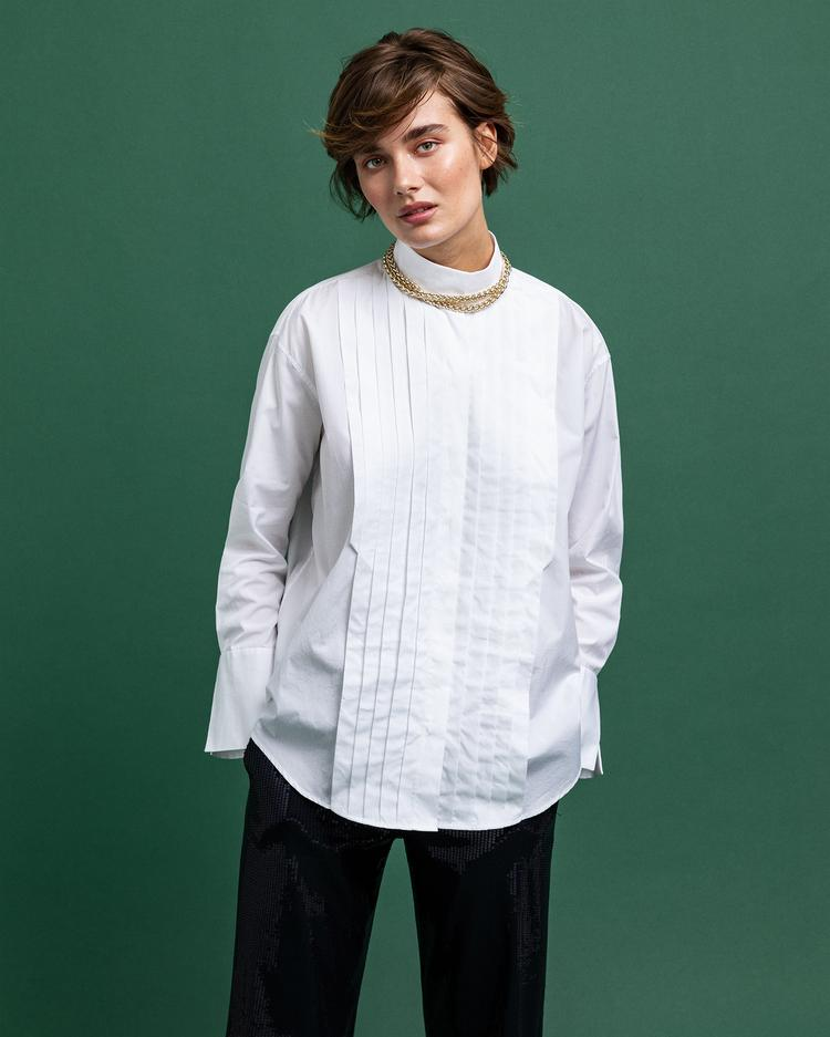 GANT Women's Tux Pleated Relaxed Shirt - 4320145