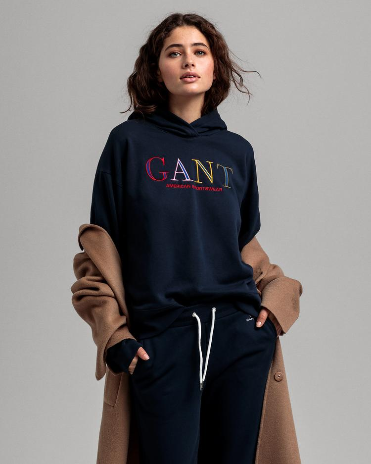 GANT Women's Colour Graphic Hoodie Sweatshirt - 4200609
