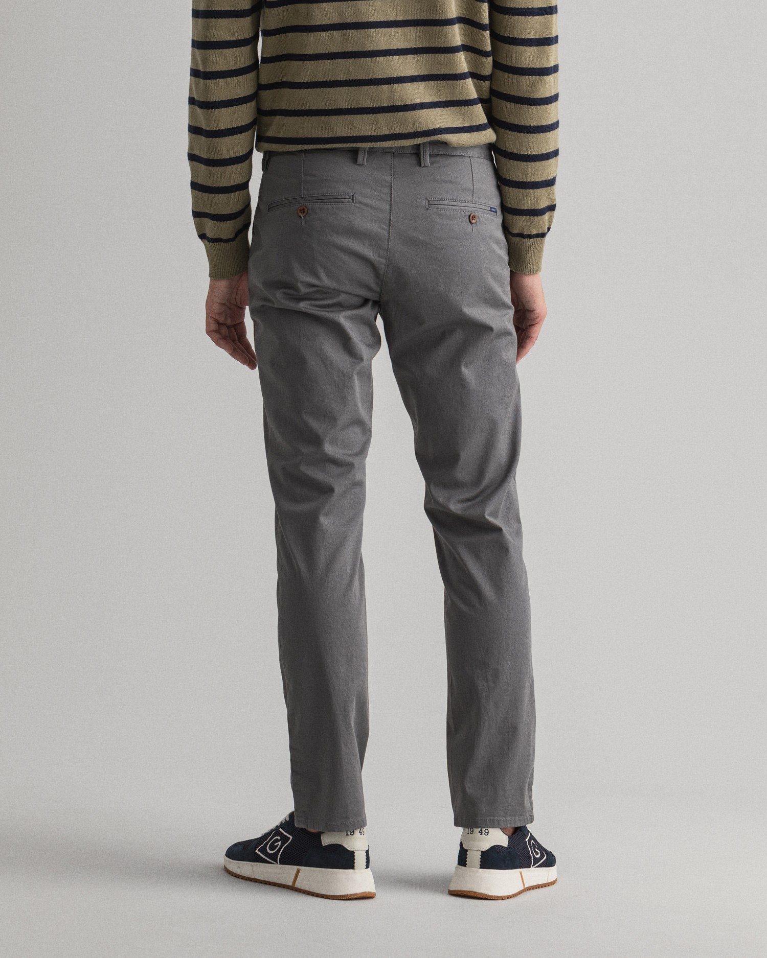 GANT męskie chinosy z diagonalu Slim Fit  - 1500156