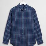 GANT Men's Regular Fit Cotton Linen Check Shirt - 3011570