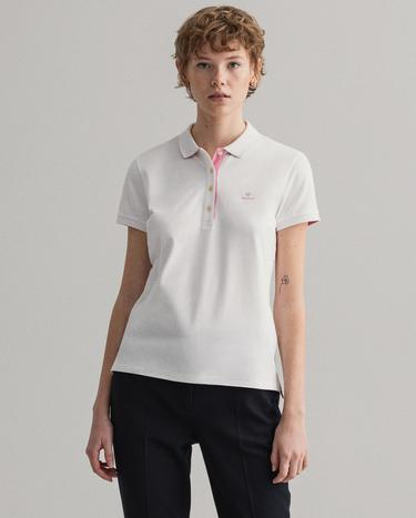 GANT Women's Contrast Collar Short Sleeve Pique Polo - 4203202