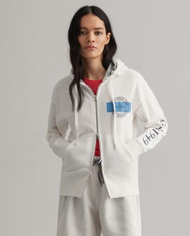 GANT Women's Nautical Zip Hoodie - 4204698