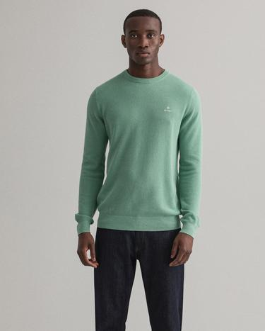 GANT Men's Cotton Pique C-Neck Sweater - 8030521