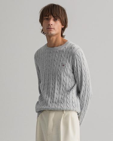 GANT Men's Cotton Cable Crew Sweater - 8050501