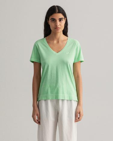 GANT Women's Sunfaded Short Sleeve V-Neck T-Shirt - 4203468