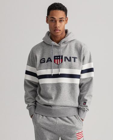 GANT Men's Relaxed Fit Retro Shield Hoodie - 2047071