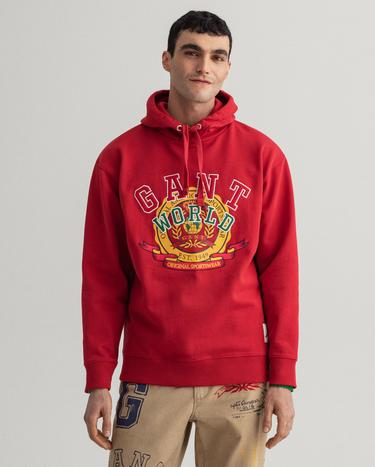 GANT Men's Relaxed Fit World Crest Hoodie - 2007026